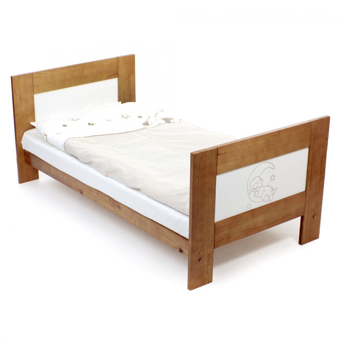Baby Vivo Kinderbett Juniorbett Babybett Massiv Holz Kiefer 140 X 70 Cm    Teddy: Amazon.de: Baby