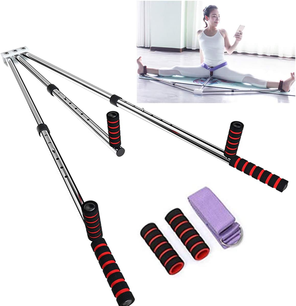 3Bar Leg Stretcher Split Stretching Machine Martial Arts Yoga Flexibility Train//