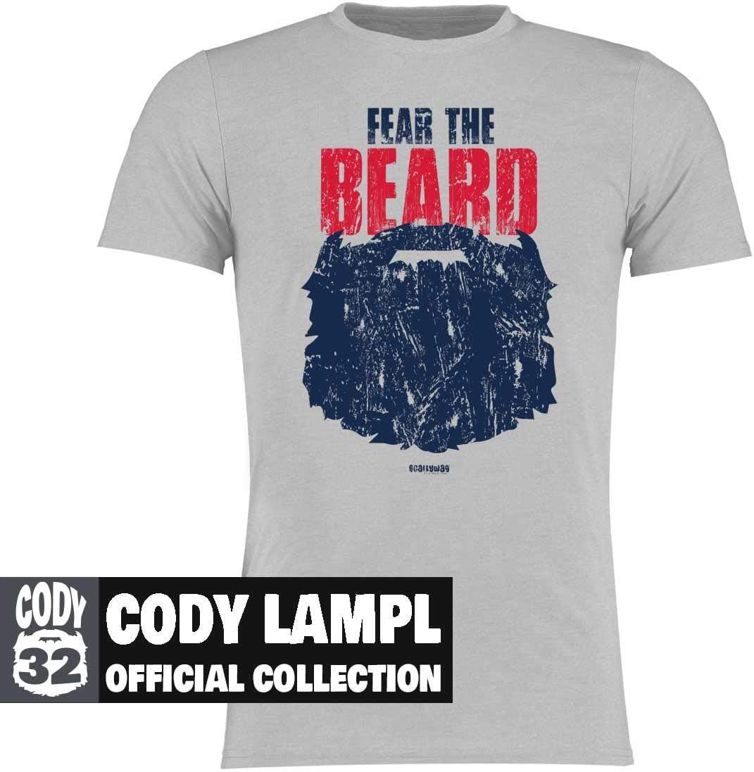 offizielle Cody Lampl #32 Collection Scallywag/® Eishockey T-Shirt Fear The Beard I Gr/ö/ßen S 3XL I A BRAYCE/® Collaboration