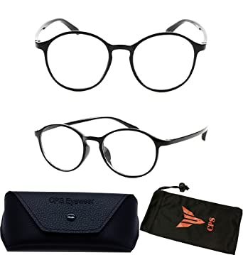 plastic black frame round reading glasses unbreakable with wide temple curved strength 100 - Wide Frame Reading Glasses