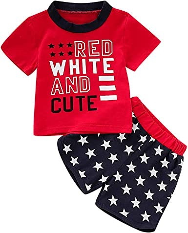 2pcs Toddler Baby Boys Cute Clothes Set Kids Short Sleeve T-shirt Shorts Outfits