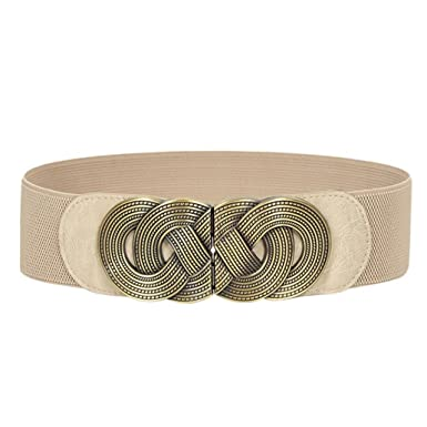 Tonsee® Mme Mode Ceinture élastique Décoration (blanc)  Amazon.fr ... b86fc019b48