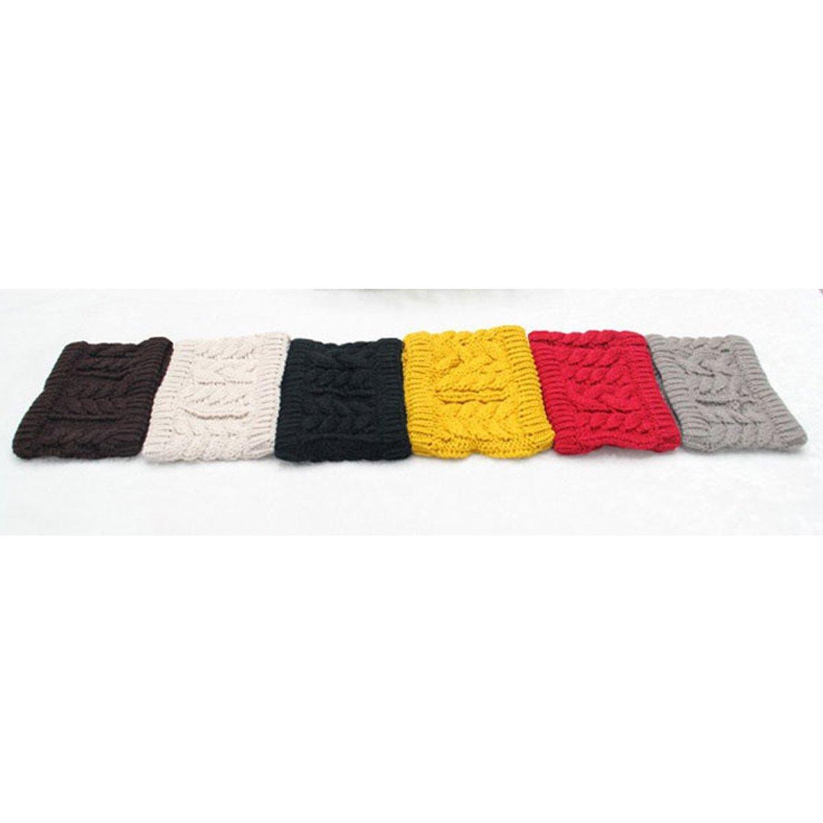 LONGQI à Tricoter Bandeau d\'hiver pour Femme Chaud Chapeau Ski Capuchon en Tricot Bandeau
