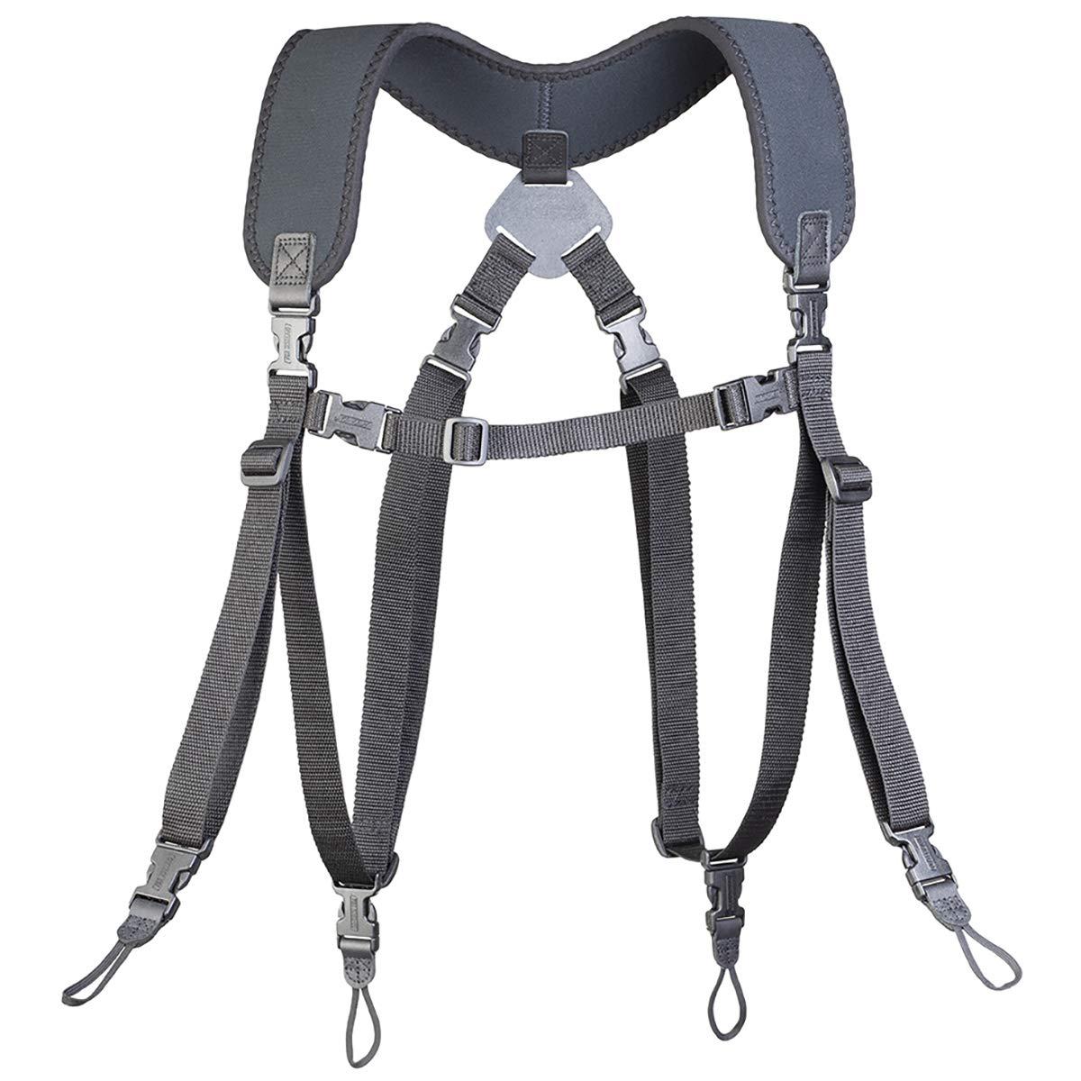 OP/TECH USA Dual Harness, Uni-Loop, Regular (6501062), Black