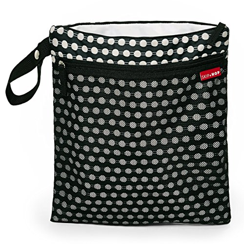 Skip Hop Grab & Go Wet/Dry bolsa de pañales negro negro/blanco negro/blanco