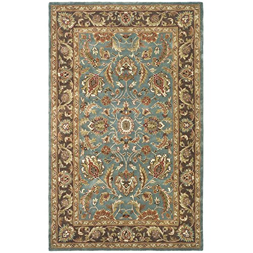 Safavieh Heritage Collection HG812B Handmade Traditional Oriental Blue and Brown Wool Area Rug (3′ x 5′)
