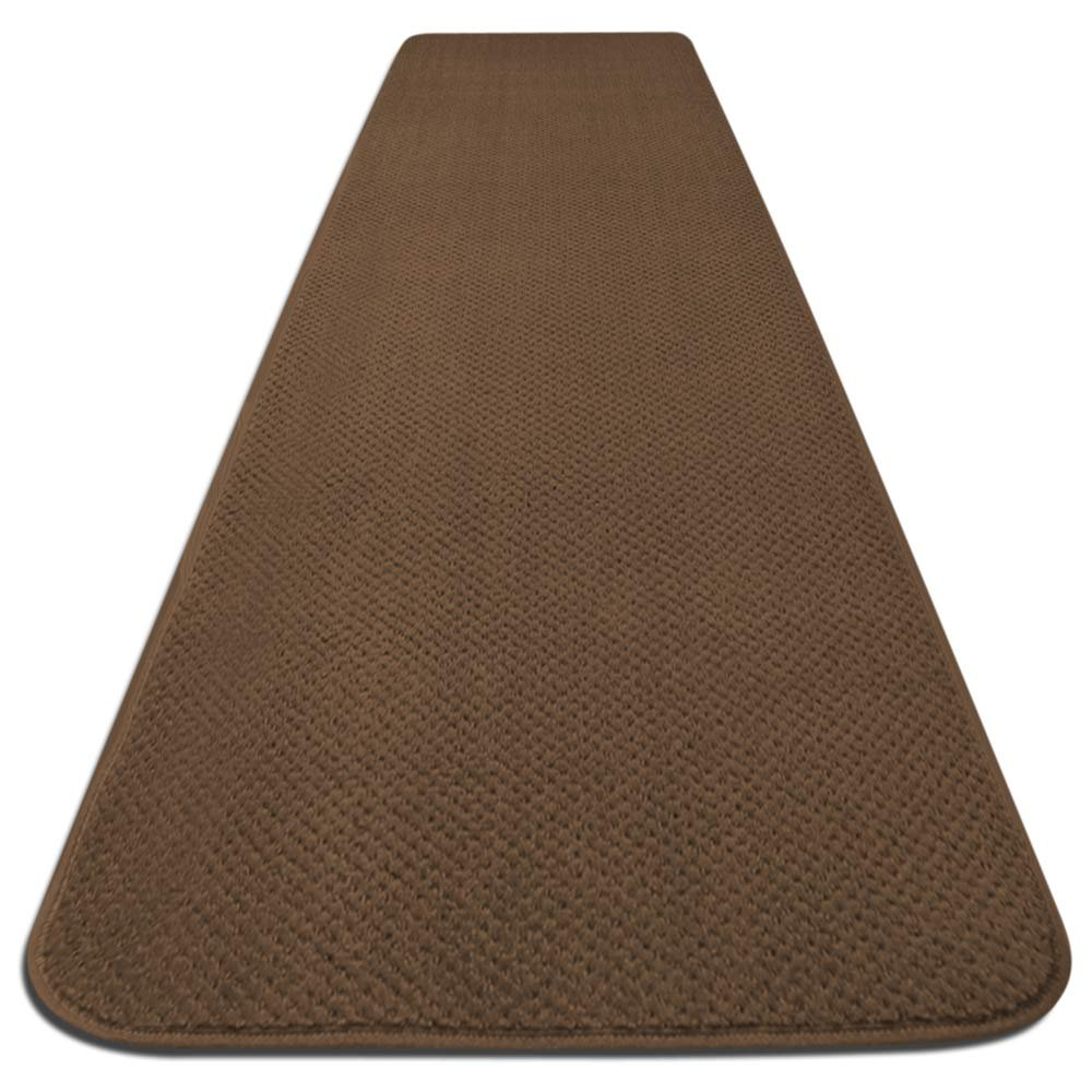 Skid-resistant Carpet Runner - Toffee Brown - 10 Ft. X 36 In. - Many Other Sizes to Choose From