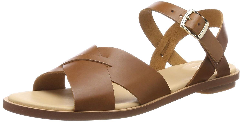 marrón (Light Tan Leather -) Clarks Willow Gild, Sandalias de Talón Abierto para mujer