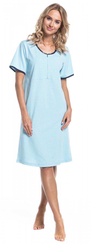 d854ea600bfd4 Womens Maternity Nursing Breastfeeding Nightdress Shirt Gown 892p Happy Mama