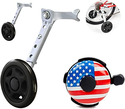 A Perfect stabilizer Accessories Package for Kid Sports /& Outdoors Bicycle Training Wheels for Kids with Free Bell Adjustable for 12 14 16 18 20 inch Bike Ciao