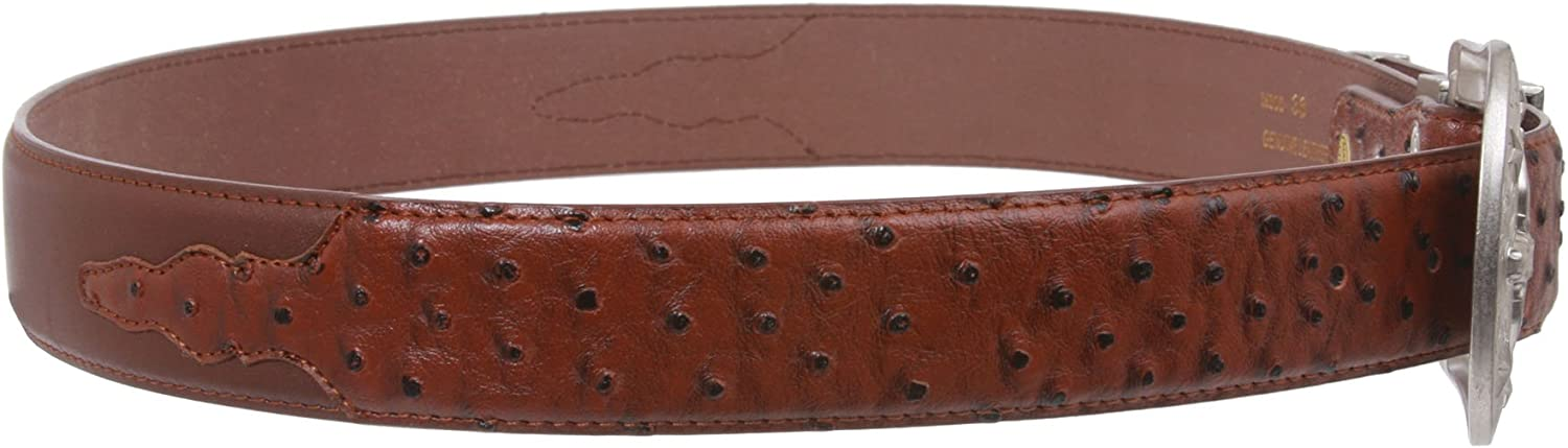 """1-1//2/"""" Embossed Ostrich Print with Accent Edge"""