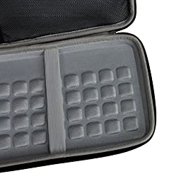 For Logitech K810 920-004292 K811 920-004161 Bluetooth Keyboard Hard EVA Travel Storage Carrying Case Cover Bag by Hermitshell
