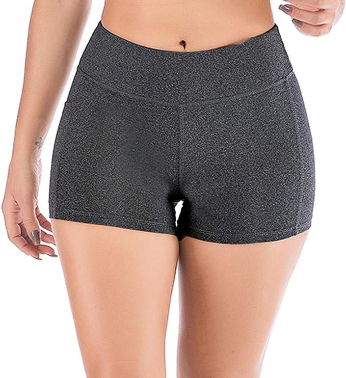 Mujer Pantalones Elásticos Mallas Pantalones Color sólido Moda ...