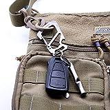 TACRAY Titanium Keychain Carabiner Clip, Anti-lost