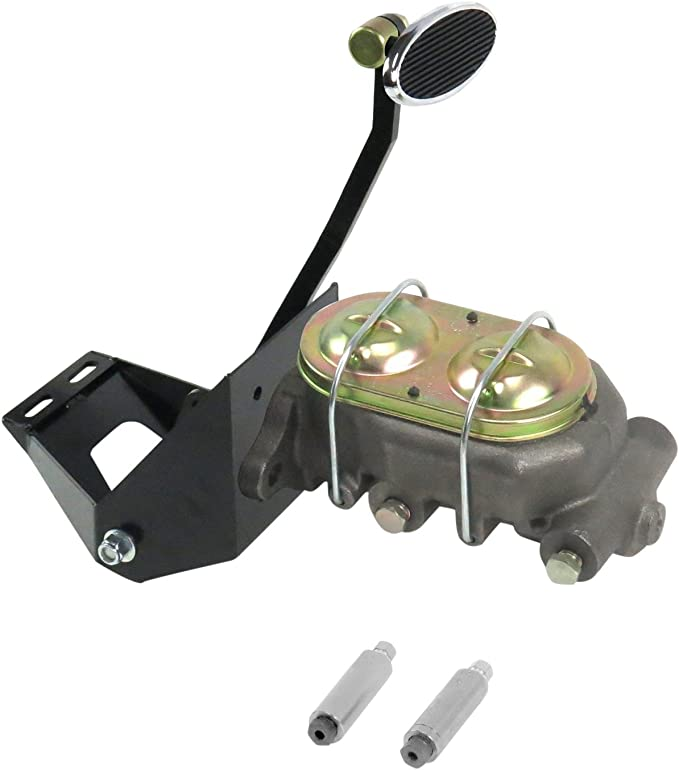 Helix 324583 55-59 Chevy Truck FW Manual Brake Pedal kit Drum~Sm Oval Chr Pad
