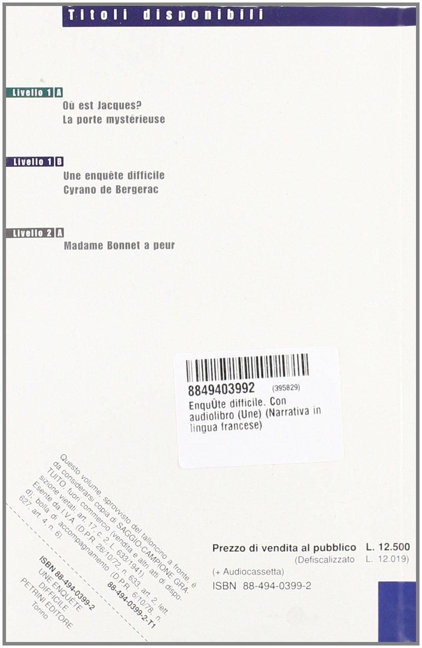 ENQUETE DIFFICILE + CS: MONTARETTO MARULLO: 9788849403992: Amazon ...