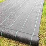 Golden Moon Weed Barrier Landscape Fabric 3oz Weed Barrier Cloth 3ft x 100ft Black Garden Fabric