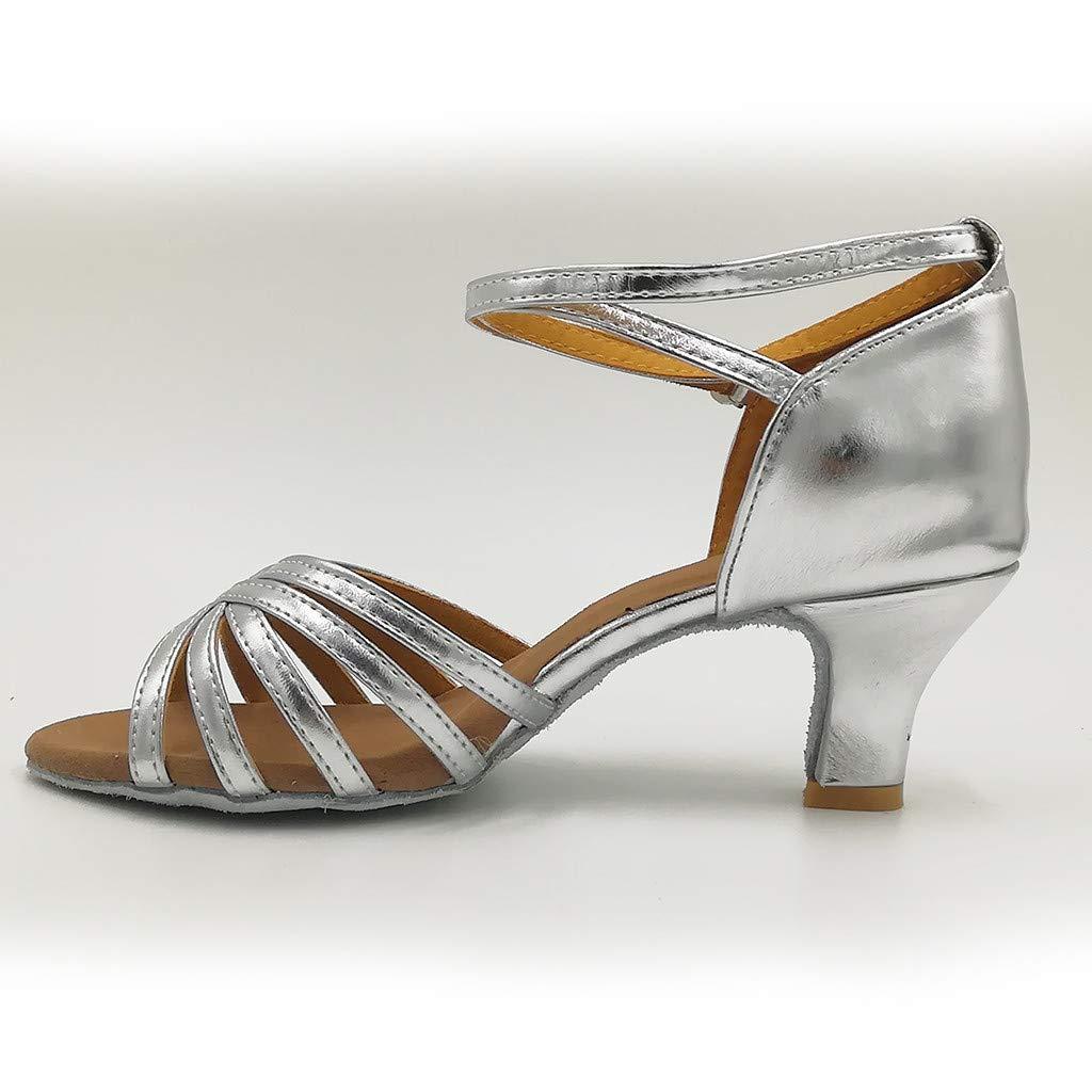 Tefamore/_mujer Zapatos de Baile Latino//Moderno//Samba//Chacha para Mujer Satin Zapatos de Baile de Sal/ón