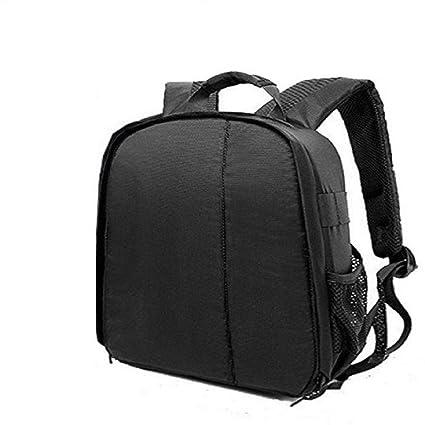 Mirror Camera Bag Camera Backpack Waterproof Fabric, Anyprize DSLR Camera,  Lens, Tripod and Camera Accessories Camera Bag (Black)
