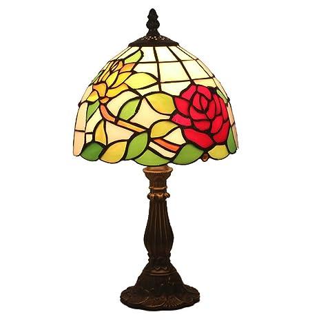 FABAKIRA Tiffany Estilo Lámpara de Mesa Lámpara de Cabecera Lámpara de Escritorio Lámpara de la Sala de Estar de la Barra