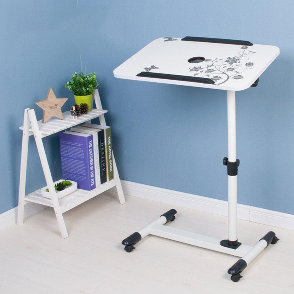 E ZZ Folding Table Folding Table Lazy Laptop Desk Household Bed Small Desk 8 colors Optional 57  62cm (color   C)