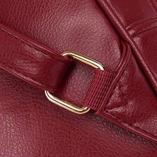 Tout Mode fourre Femme Noir GMBAB221455 Sacs Sacs Rouge Bandouli¨¨re ¨¤ Cuir AgooLar PU CXZqwCp