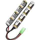 keenstone Airsoft Mini batterie NiMH 9,6 V 1600 mAh Nunchuk bâton pour fusil à air comprimé ICS CA TM SRC JG G36 G&M734 etc + mini connecteur Tamiya de haute décharge