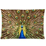 Beautiful Peacock Customize Pillowcase Pillow Sham Pillow Cushion Case Cover Two Sides Printed 20x30 Inches