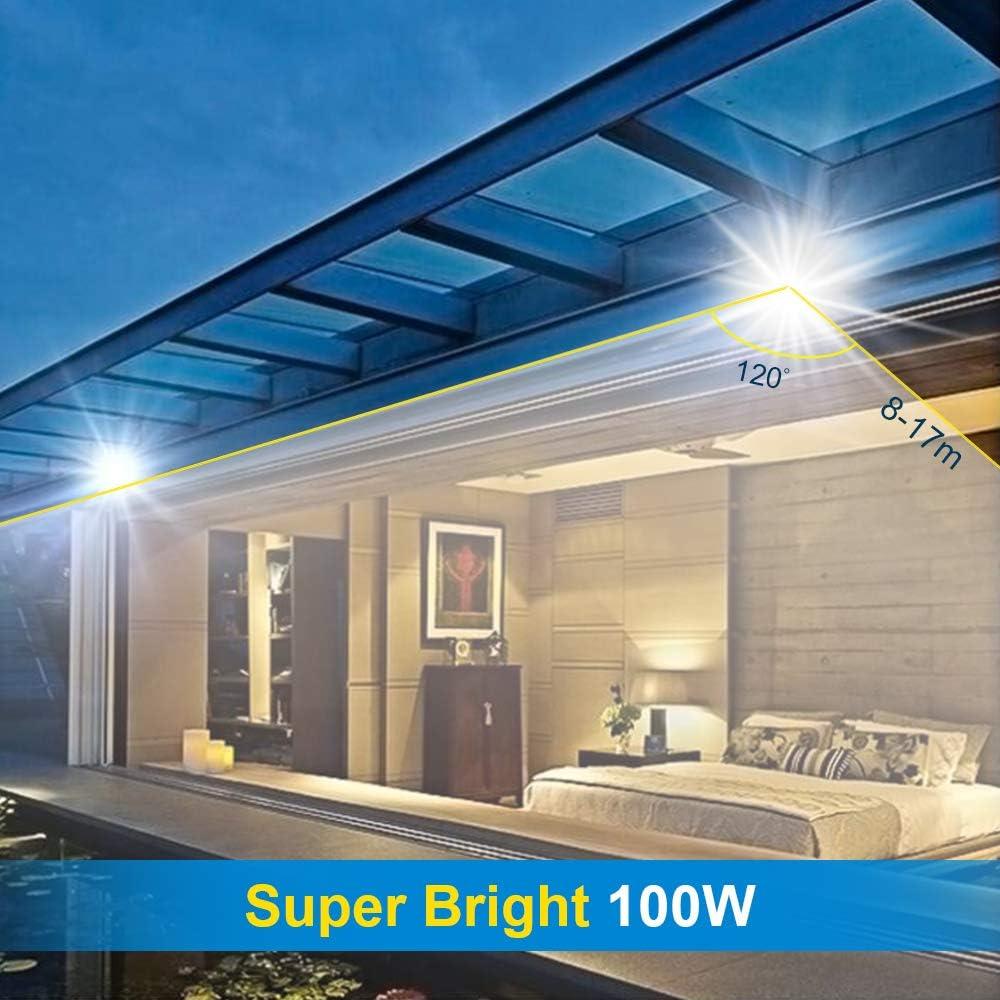 couloir 6000K jardin 10W LED Projecteur D/étecteur de Mouvements garage Projecteur LED exterieur de s/écurit/é id/éal pour /éclairage public Blanc Froid Classe /énerg/étique A++ Imperm/éable IP65