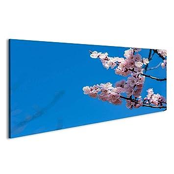 Japan Bild Blüten Bilder auf Leinwand Wandbild Poster
