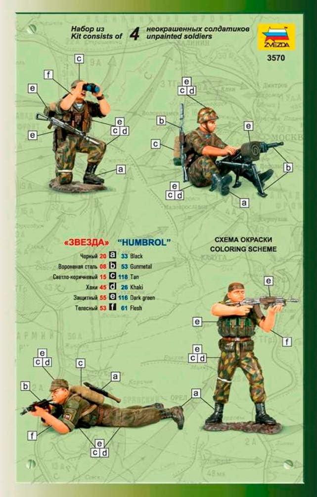 Zvezda 500783570-1:35 Russian Fire Team