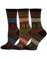TeeHee Women's Fun Crew Jacquard Socks for Women
