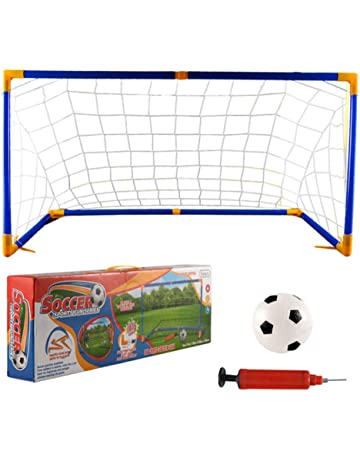 5afdc0df2 Cuekondy 2019 New Portable Soccer Goals Nets Set with Football and  Pump,Beach Travel Backyard