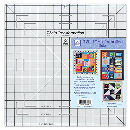 Price comparison product image June Tailor T-Shirt Transformation Ruler, 15-1/2 by 15-1/2-Inch