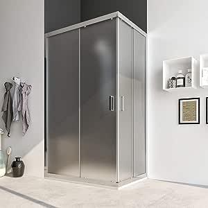Box ducha cabina angular 70 x 70 75 x 75 80 x 80 90 x 90 70 x 90 70 x 100 70 x 120 80 x 100 80 x 120 cm puerta corredera de cristal cristal antical 6 mm. Acacia: Amazon.es: Bricolaje y herramientas