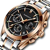 KASHIDUN Watches, Men's Full Stainless Steel Luminous Quartz Watch Fashion Casual Business Dress Wristwatch Waterproof 30M Water 918-MKHM