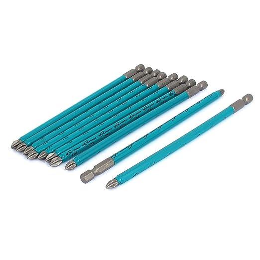 uxcell a15072700ux0582 - Brocas para destornillador de punta Phillips (magnéticas, 6 mm, 10 unidades)