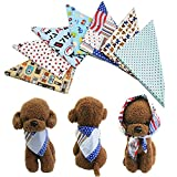 PET SHOW Pet Dog Cat Puppy Bandana Bibs Triangle Head Scarfs with Assorted Styles Accessories Assorted Color for Boys Pack of 50 …