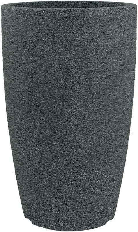 Pflanzwerk/® Jardinera Fibra de Vidrio Pipe Pl/ástico 44cm Antracita *Maceta a Prueba de heladas* *Protecci/ón UV* *Calidad Europeo*