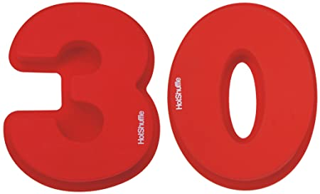 Large Silicone Number 30 Cake Tin Mould 30th Pearl Wedding