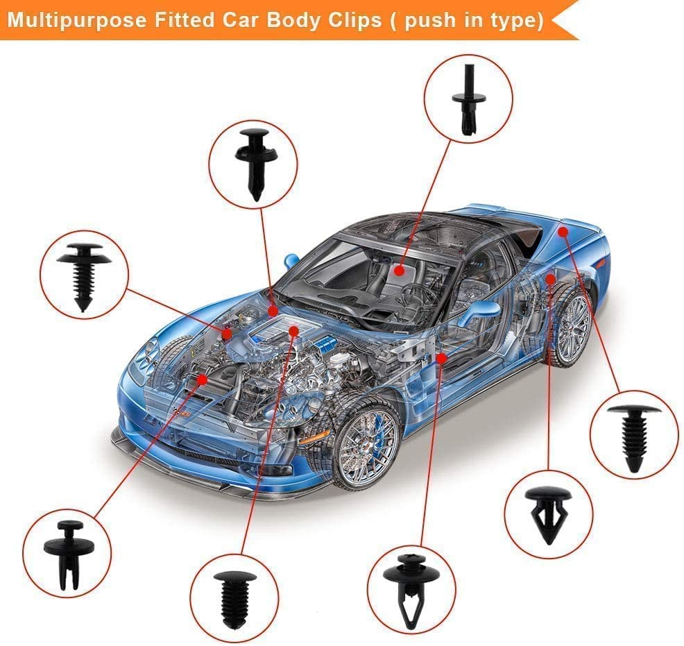 Panel Sujetador Recortar Clips De Empuje Porsche 10x