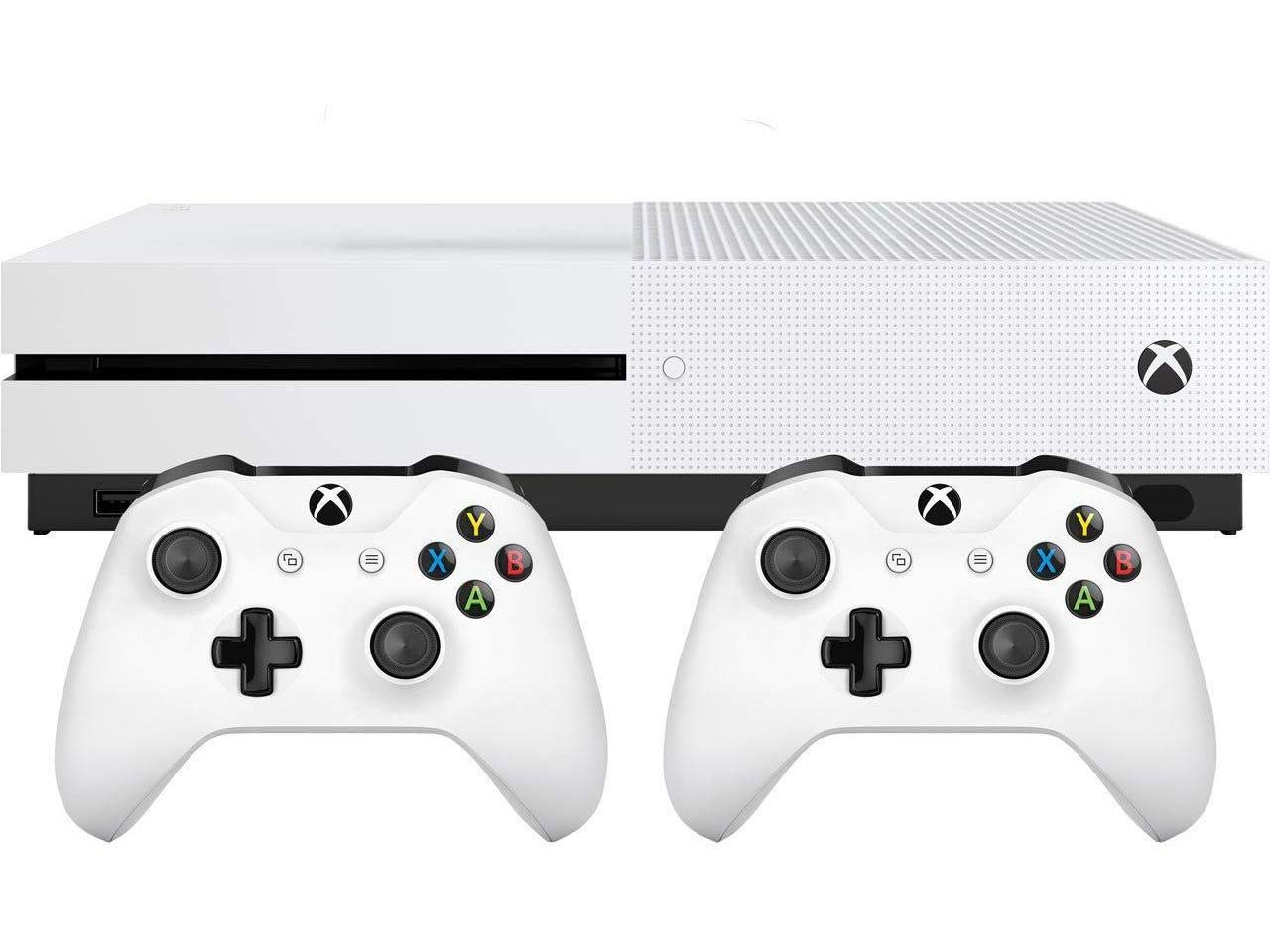 Xbox One S Two Controller Bundle (1TB) Includes Xbox One S, 2 Wireless Controllers, 3-Month Game Pass Trial, 14-day Xbox Live Gold Trial  by  (Image #2)