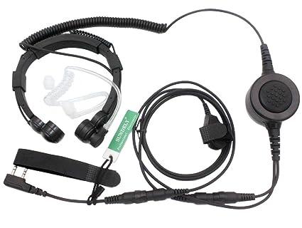 Amazon Com Sundely Military Grade Tactical Throat Mic Headset