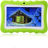 Womdee Tablet per Bambini, 7 Pollici Tablet Google Android 4.4 con Custodia in Silicone, Quad Core, 8 GB, 1.6GHz, WiFi, Doppia Fotocamera (Verde)