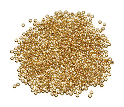 Darice Japanese Toho Bead, 2.2 mm/8 g, Galvanized Antique - Glass Seed Gold