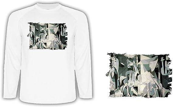 Camiseta Manga Larga EL GUERNICA DE Pablo Picasso Tshirt ...