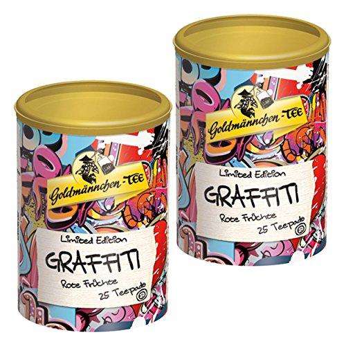Goldmännchen Tee PUROMA Graffiti / Rote Früchte, Früchtetee, Teebeutel, Tee Pads, 50 Puroma-Beutel