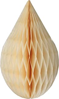 product image for 6-Pack 5 Inch Mini Rain Drop Honeycomb Ornament Decoration (Classic Ivory)
