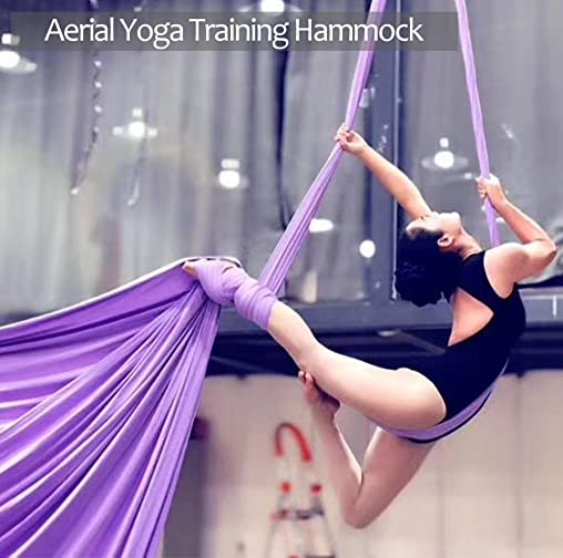 Aerial Silks Deluxe Equipment Set for Aerial Yoga, Aerial Yoga Hammock, Aerial Acrobatic,Circus Arts, Aerial Dance L 10m W 2.8m