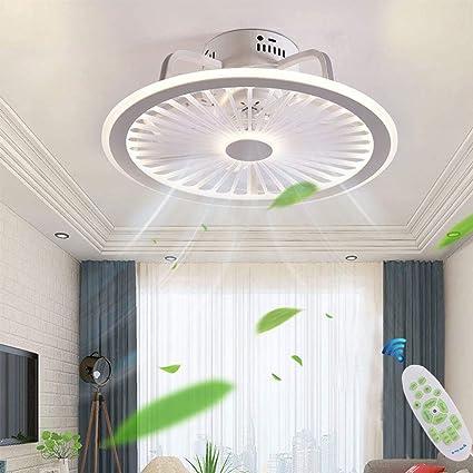 Moderno Ventilatore A Soffitto Con Lampada A Soffitto Con Luce E Telecomando Silenzioso Ventilatori Dimmerabile Plafoniere Lampadario Camera Da Letto Soggiorno Illuminazione Invisibile Fan